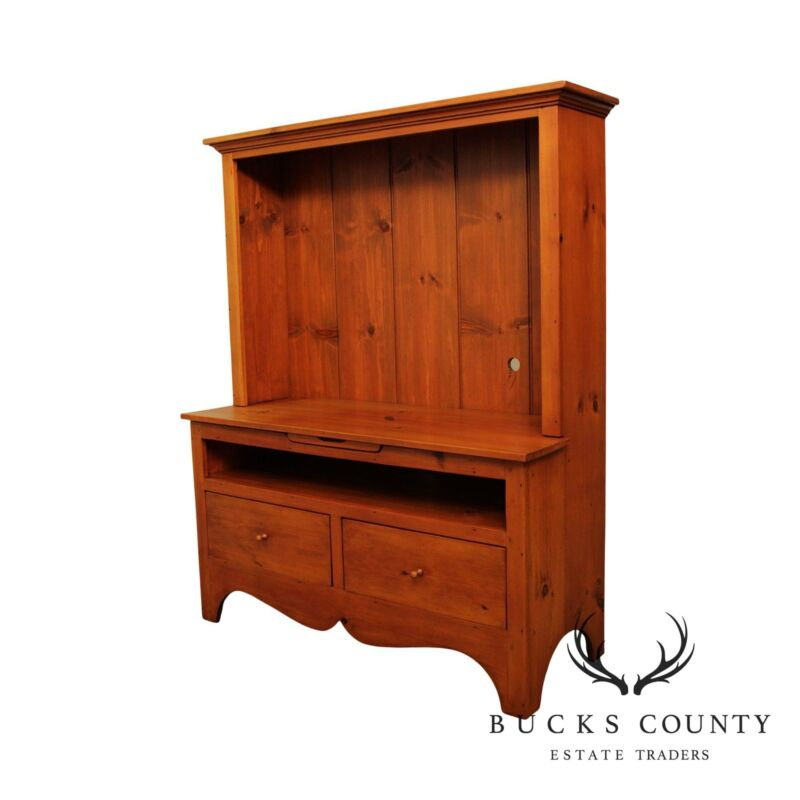 Stephen Von Hohen Bucks County Collection Custom Crafted Pine TV Console