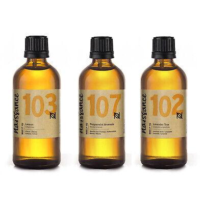 Naissance Aceites Esenciales de Lavanda, Menta y Limón 3 x 100ml