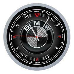 Wall Clock Wall BMW Car Sports Collection Quadrant Alarm Clock Logo