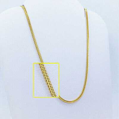 GENUINE 22K Solid Gold Chain Necklace Franco 22