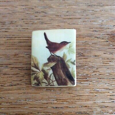 Porcelain Jenny Wren Bird Brooch
