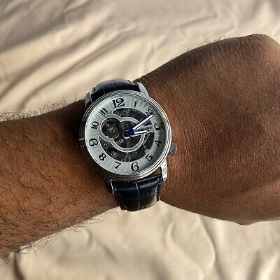 Stuhrling Original Skeleton Automatic Watch Clean Working 20 Jewels ST90050