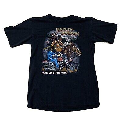 Vintage 1991 Holoubek Harley Davidson Wind Indian Motorcycle Shirt Single Stitch