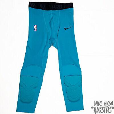 Nike Men's Size Medium Teal Pro NBA Hyperstrong Compression 3/4 Length Pants