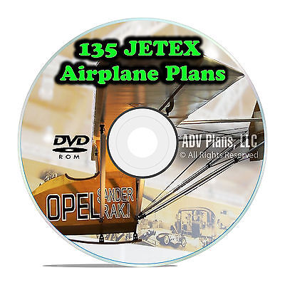 135+ JETEX Model Airplane Plans Scale Templates, Jets, Scratch Build, DVD F59