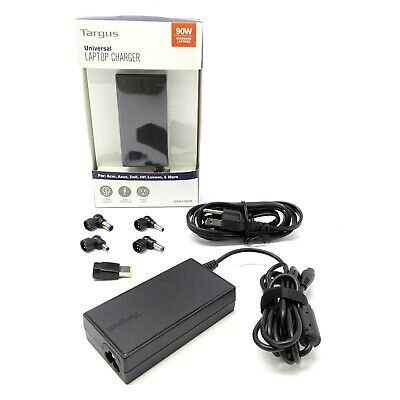 90W Targus Universal AC Adapter Laptop Charger — Acer ASUS Compaq Dell HP Lenovo