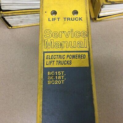 Daewoo Bc15t Bc18t Bc20t Service Shop Repair Manual Electric Fork Lift Truck