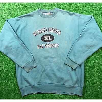 Vintage 90s UC Santa Barbara Crewneck Sweatshirt Mint Green