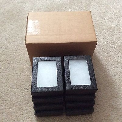 Economy Box Of 8 2-12 X 3-38 X 34 Display Cases Riker Type Made In Usa