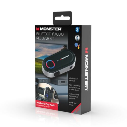 Monster Bluetooth Audio Receiver Kit Supports Google and Siri - 7 Piece Kit