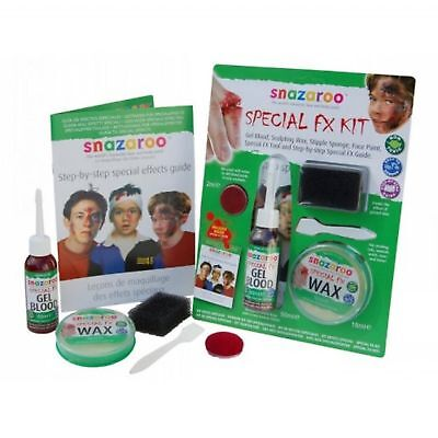 Snazaroo Special Effects Kit Wax Blood Sponge Halloween Face Paint Make - Special Effects Makeup Kit