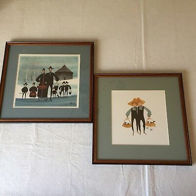 P Buckley Moss 2 Framed Prints 1988 Signed Limited Ed 1000 Family Brothers Cats  for sale  Rye