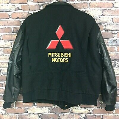 Letterman Jacket Sale (Mitsubishi Motors Varsity Jacket L-XL Wool Leather Letterman Diamond Sales)
