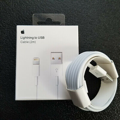 Genuine OEM Original Apple iPhone Lightning Cable Charger Cord 2M 6FT New Sealed