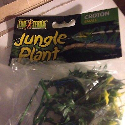- Exo Terra Plastic Terrarium Plant, Small, Croton New Sealed F1