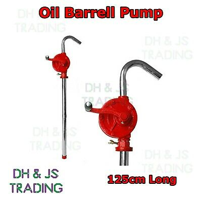 125cm Oil Barrel Pump Rotary Hand Action Fuel Diesel Water Transfer Gallon Drum