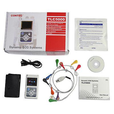 Tlc5000 Dynamic 12-channel 24h Ecgekg Holter System Recorder Software Analyzer