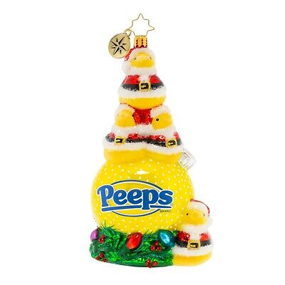 [NEW Christopher Radko A PEEP-ING HOLIDAY! Christmas Ornament 1020077</Title]