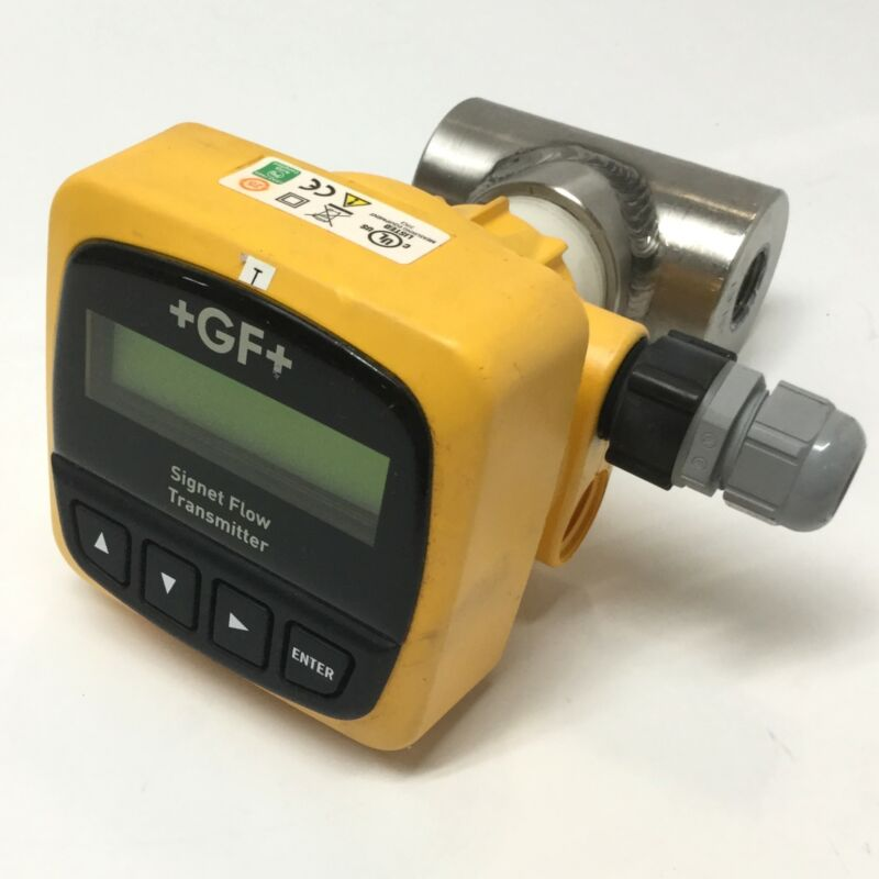 GF Signet 3-8550-1 Flow Transmitter, Field Mount, 12-24VDC w/Paddle Wheel Sensor