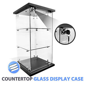 HIGH QUALITY LOCKABLE COUNTER/ COUNTERTOP RETAIL GLASS DISPLAY CABINET/ SHOWCASE