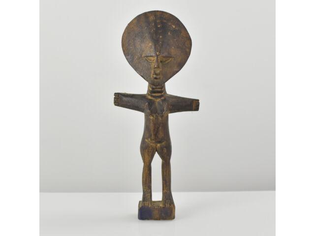 Vtg. African Ashanti Ghana Hand Carved Akuaba Fertility Doll Statue Tribal Art