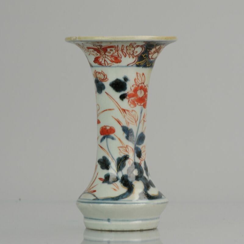 Antique 18th Century Japanese Beaker Porcelain Vase Imari Edo Period    ...