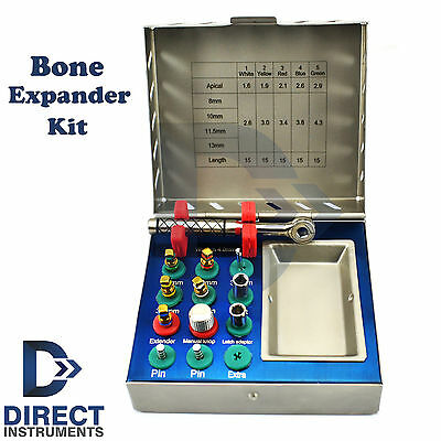 12 Pcs Bone Expander Kit Dental Expansion Preparation Implant Surgery Drills New