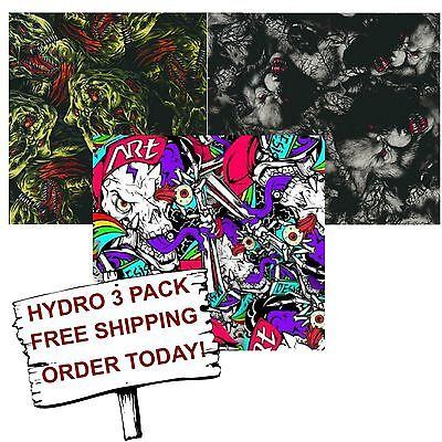Hydrographic Film Water Transfer Printing Film Hydro Dip Fantasy Animal 3 Pack