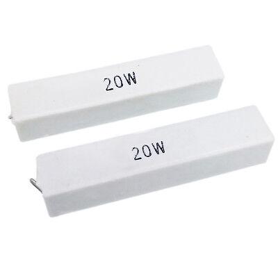Us Stock 2pcs 15 Ohm 15rj 20 Watt Axial Ceramic Cement Power Resistor 20w