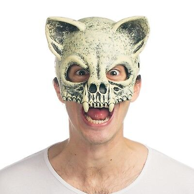 Cat Skull Mask Wasteland Mad Max Apocalypse Costume Scary Fossil Skeleton Animal