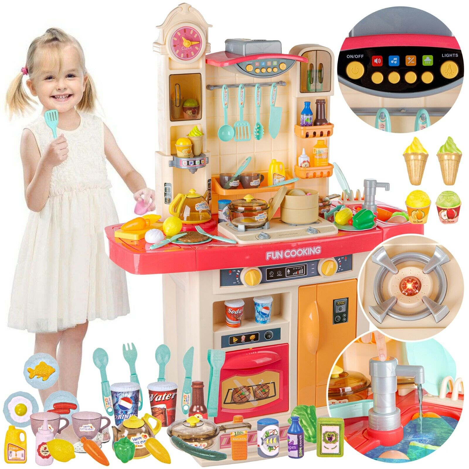 Kinderküche Spielküche Spielzeugküche Spielzeug für Kinder KP1723N Zubehörteile