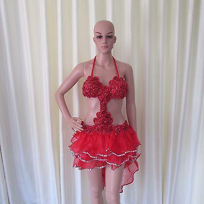 Da NeeNa R27 Shell Queen Salsa Latin Samba Drag chacha Dance Dress S -M