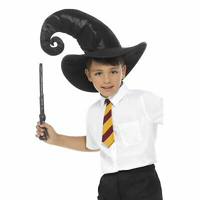 Kids Boys Girls Witch Wizard Harry Magic Fancy Dress Book Day Accessory Kit - Witch Boy Kostüm