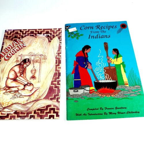 Indian Cookin & Corn Recipes from the Indians Cookbook 1973 Set Of 2 Book