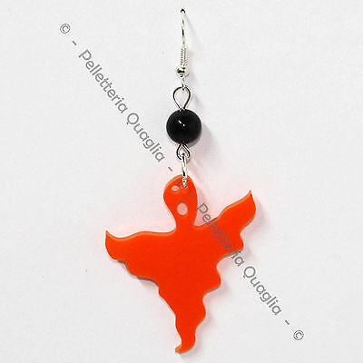 antasma Halloween Donna Plexiglass Pendente Arancione 4 cm (Fantasma Halloween)
