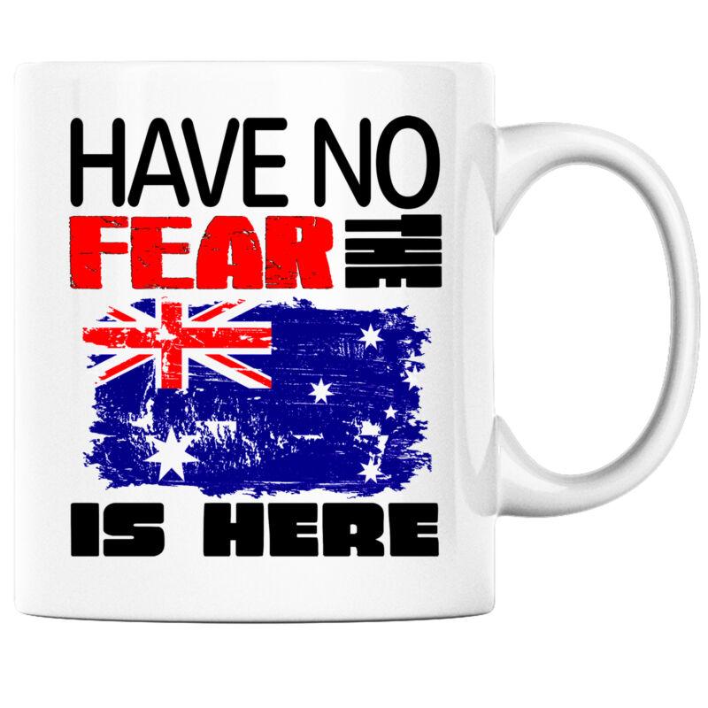 Have No Fear the Australian is Here Funny Coffee Mug Australia Heritage Pride