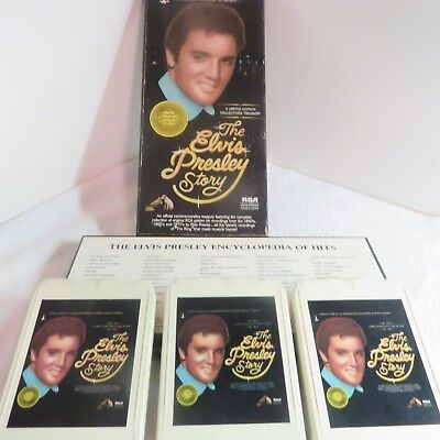 """""""The Elvis Presley Story"""" - 1977 Boxed Set  -  8-Track (3 Tapes) in Original Box"""