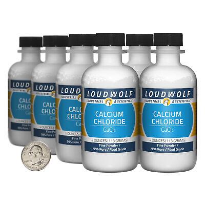 Calcium Chloride 2 Pounds 8 Bottles 99 Pure Food Grade Fine Powder