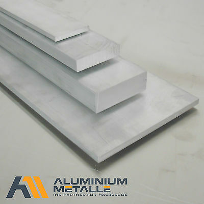 Aluminium Flachstange 80x20mm Länge wählbar Alu Flachmaterial AlCuMgPb Flach
