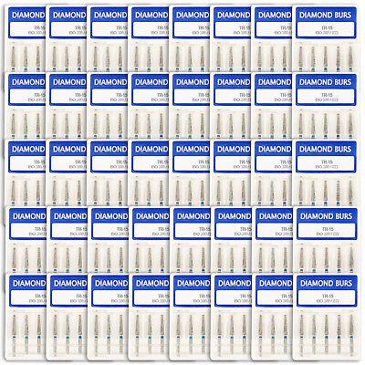 200 Pcs 40 Box Dental Diamond Burs Fg 1.6mm Tr-15 For High Speed Handpiece Sale