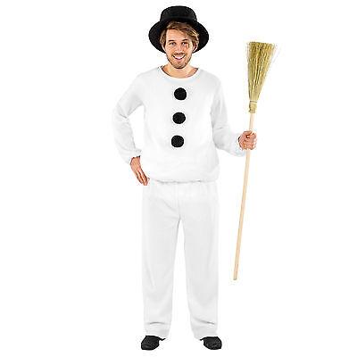 Schneemann Kostüm für Herren Karneval Fasching Fastnacht Verkleidung Männer -