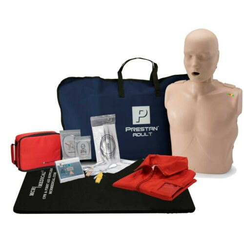 CPR Training Kit w. Adult Manikin WITH Feedback & AED Practi-Trainer Essentials