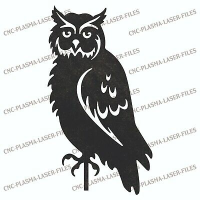 Owl Dxf Sign Plasma Laser Waterjet Router Plotter Cut Vector Cnc File