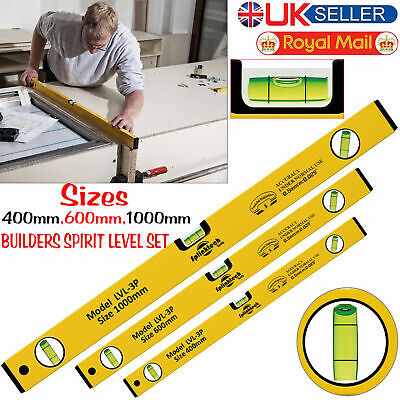 - 3 PIECE BUILDERS SPIRIT LEVEL SET - 400, 600 & 1000mm