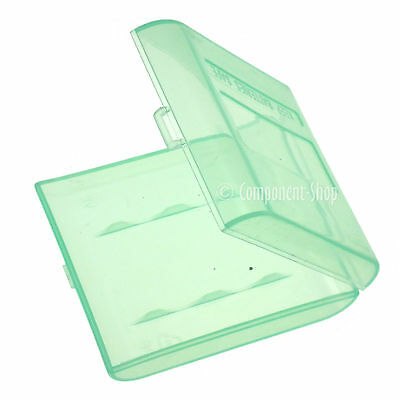 Pack of 4 Green carrying cases for 4x AA or AAA batteries