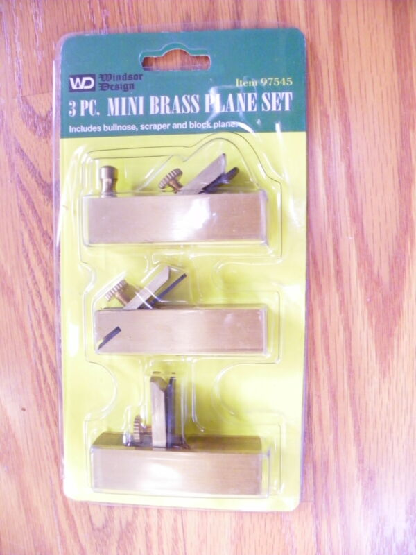 3PC MINI BRASS CRAFT HAND SCRAPER PLANE SET WOOD PLANER BLOCK BLANE BULLNOSE