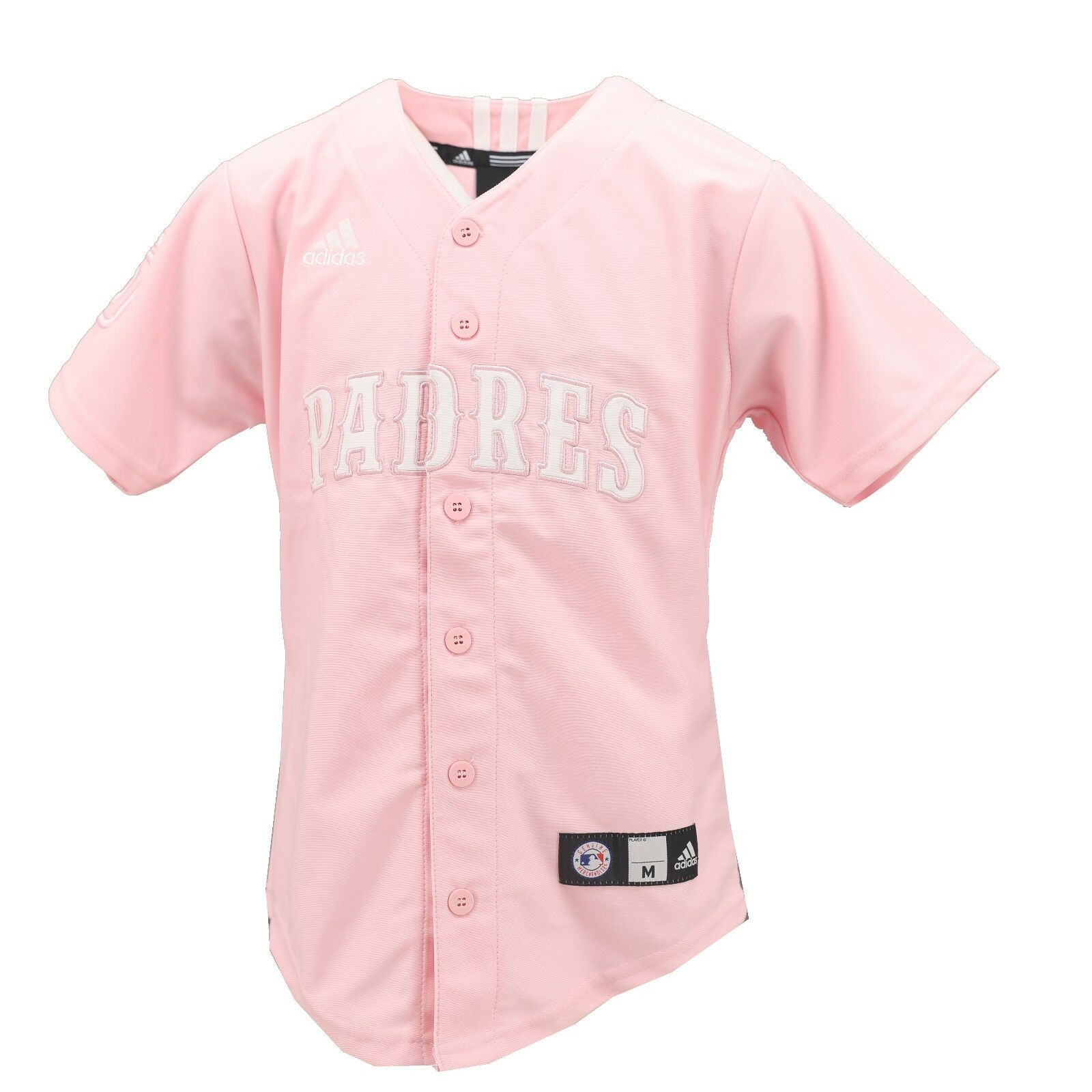 the best attitude fad6d 90bcd Details about San Diego Padres Official MLB Adidas Kids Youth Girls Size  Pink Jersey New Tags