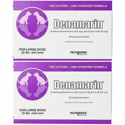 Nutramax Denamarin Tablets 425 mg Large Dog - 30ct (2pack 60Tablets)