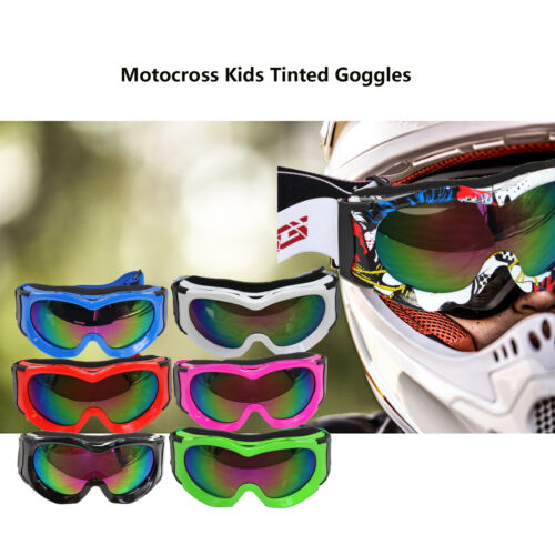 Kids Tint Goggles Anti Fog Motocross ATV Quad Dirt riding Skiing Skating goggles