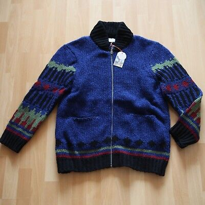 NEU Nudie Jeans Knitted Pullover Pulli Hampus Printed Wool Antracite M